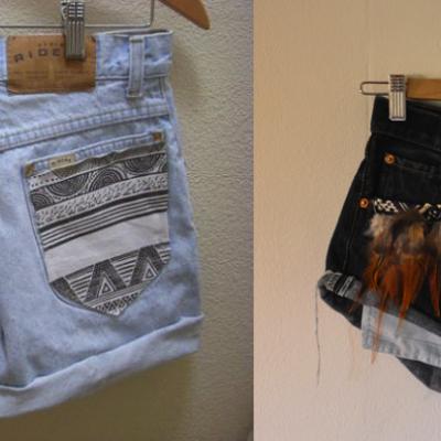 DIY Embellished Denim Shorts