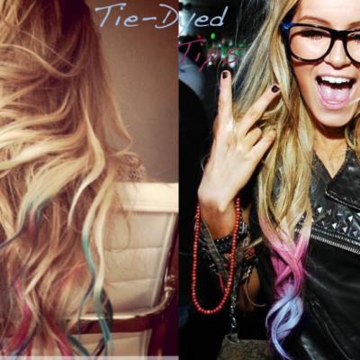 Tie Dye Hair Tips