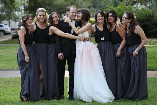 choosing the perfect bridesmaids dress black navy pink wedding dress _ glitterinc.com