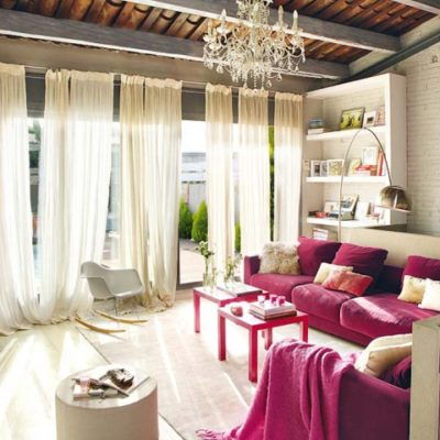 Industrial Loft With Pops of Pink