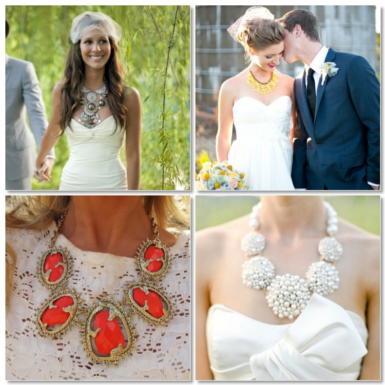 Statement Necklaces For Wedding Dresses