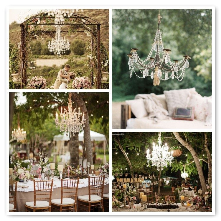Vintage Backyard Wedding Ideas : sucker for a good chandelier ? they?re so vintage
