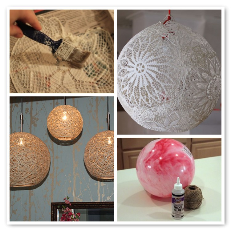 Diy pendant lamps glitter inc for Papier mache lanterns