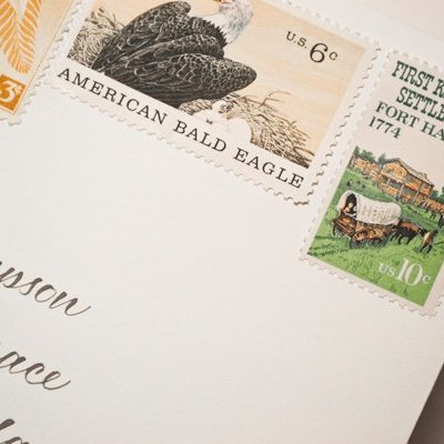 Postage Stamps + Going Vintage