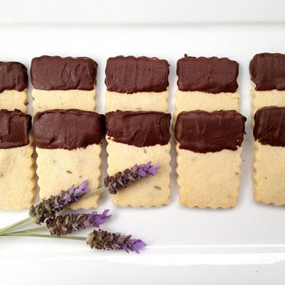 Chocolate Lavender Shortbread