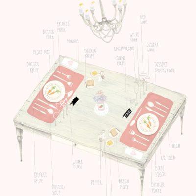 Table Setting (A Stylish Diagram)