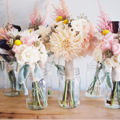 Organic Fabric Wrapped Bouquets