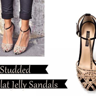 Zara Studded Flats + 90's Jellies