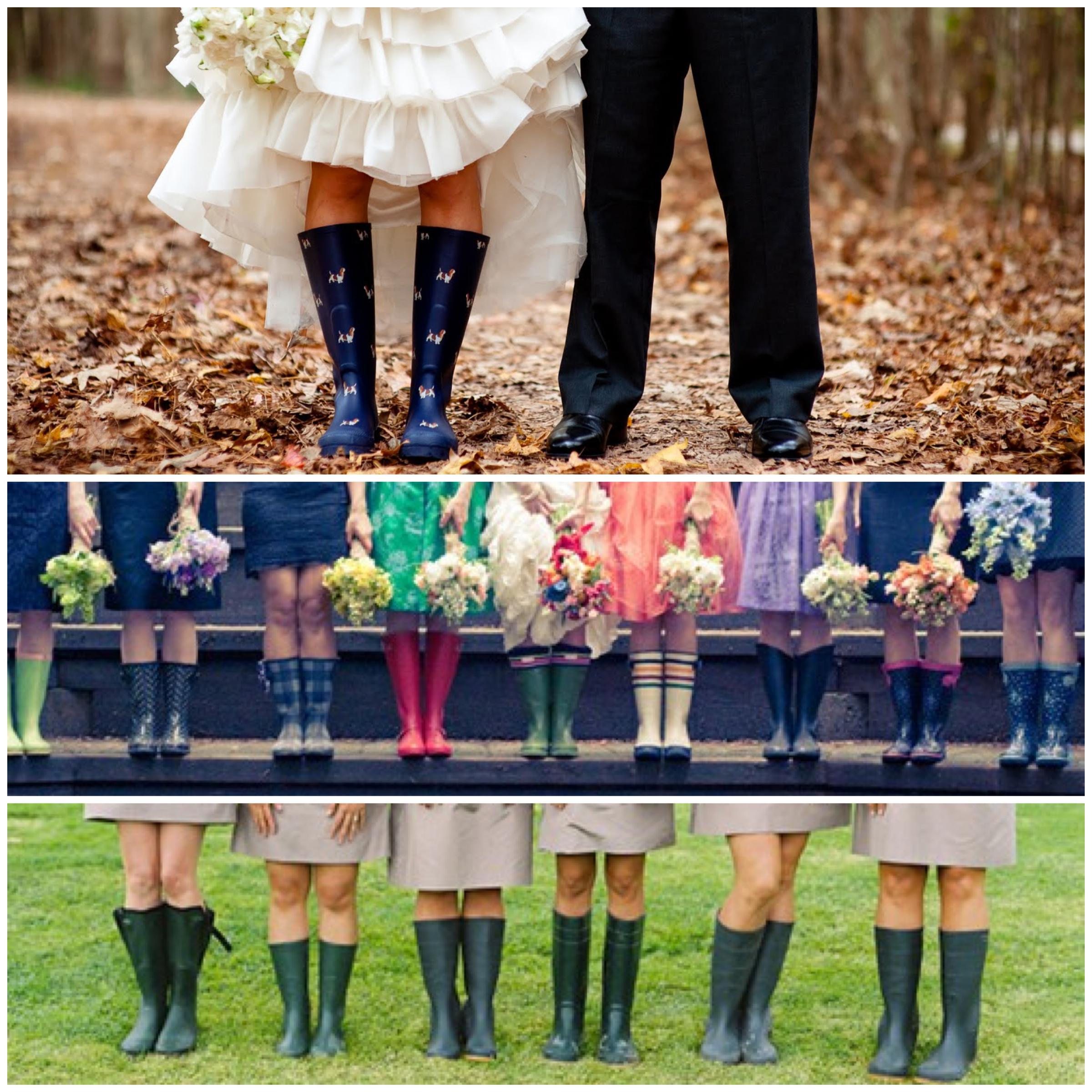 Wedding Fashion On A Rainy Day