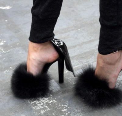 Alexander Wang Fur Sandal