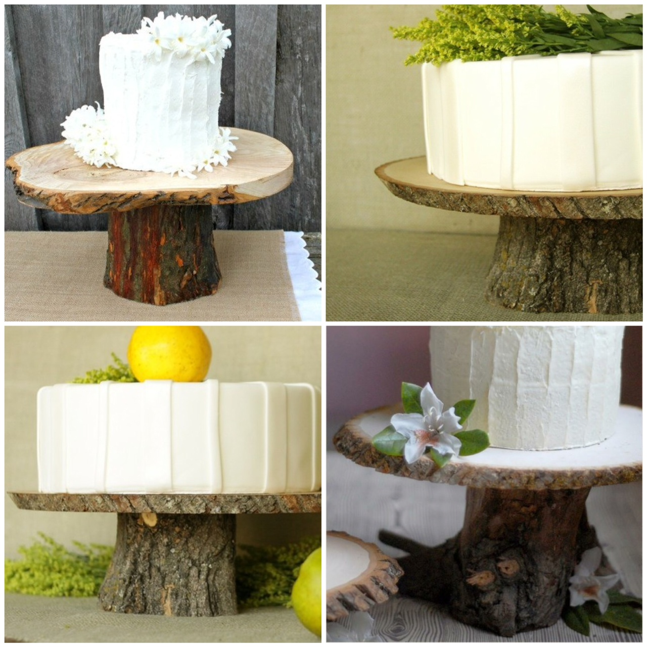 Rustic Wood Cake Stands A DIY