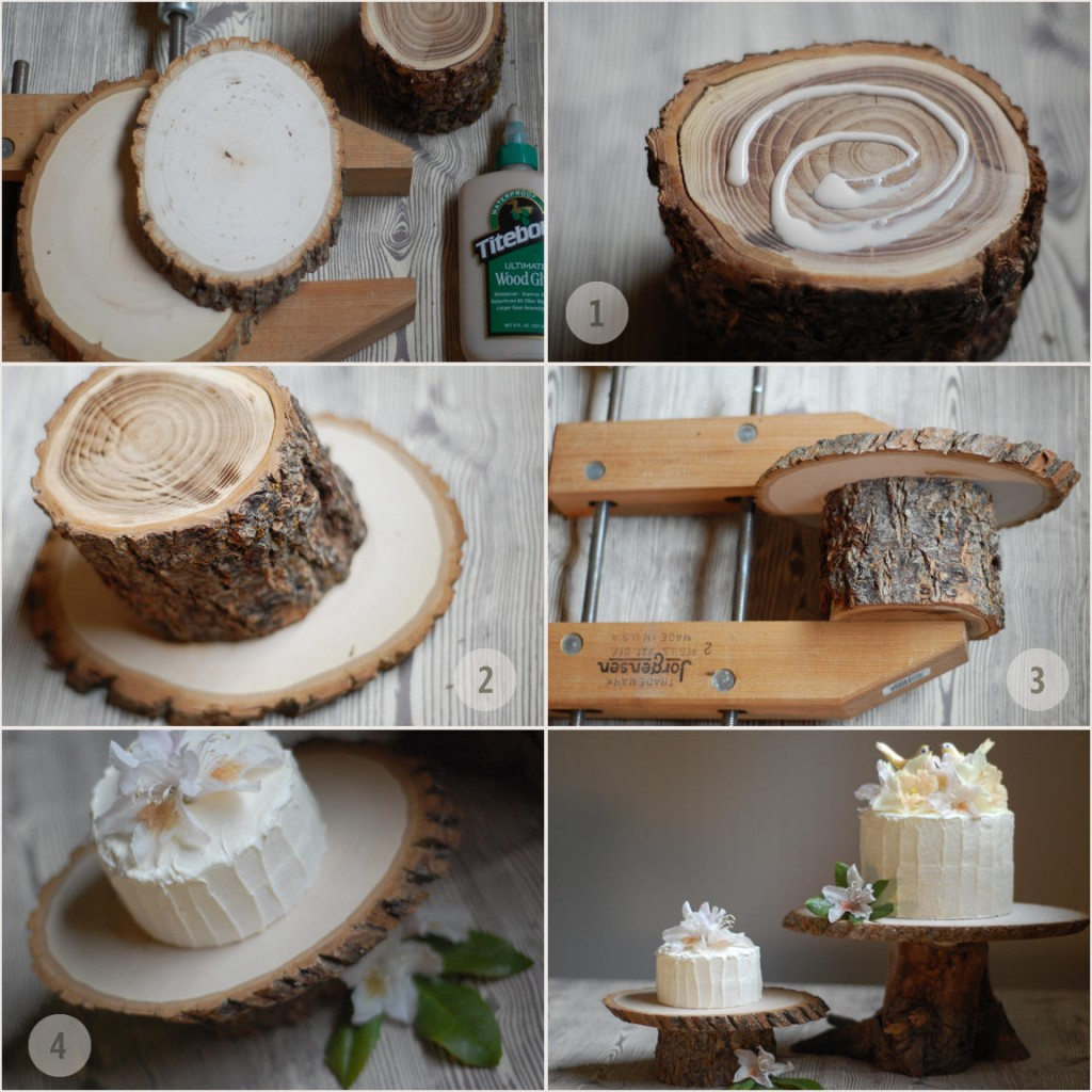 Wedding Cupcake Stand Ideas: Rustic Wood Cake Stands + A DIY