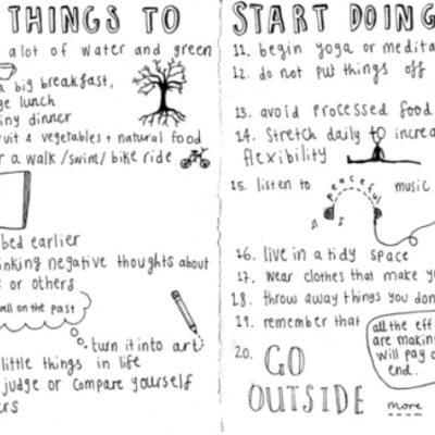 Twenty Things To Start Doing