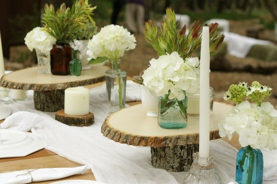 And not only can the cake stands be used to prop up beautiful wedding