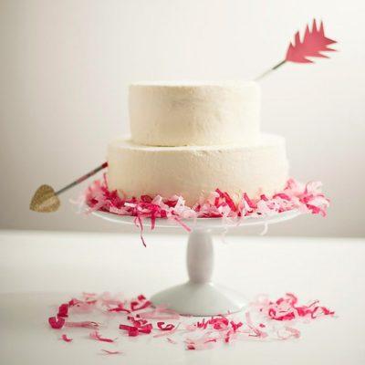 Simple Confetti Cake + Arrow DIY