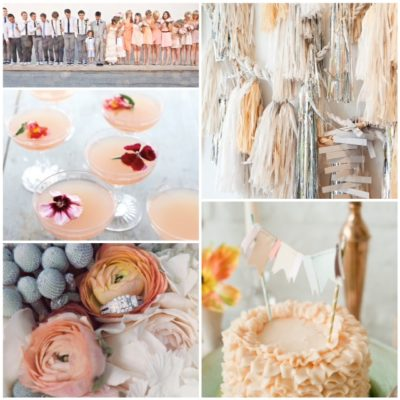 Inspiration: Peach, Silver + Grey