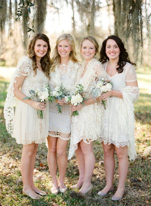 White Lace Bridesmaids Dresses | Glitter, Inc.Glitter, Inc.