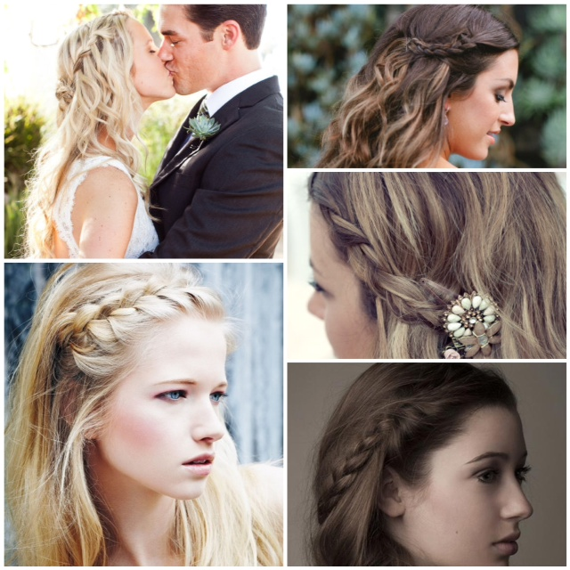Braided bangs aka side part braid glitter incitter inc im a bit envious of clever brides who took that look a step further and braided their bangs back boho face framing and lip gloss invasion proof urmus Image collections