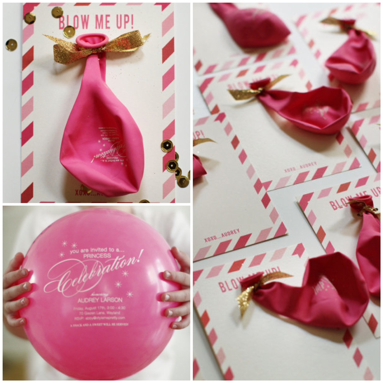 A DIY Pink Gold Princess Party – Homemade Birthday Invitation Ideas