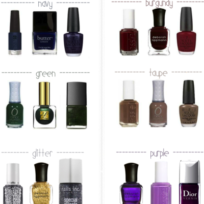 Fall's Jewel Tone Nail Polish Picks