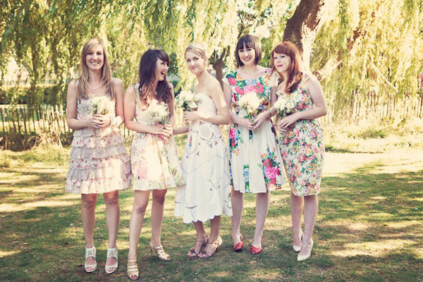 The Floral Patterns Have It Glitter Inc New Floral Pattern Bridesmaid Dresses