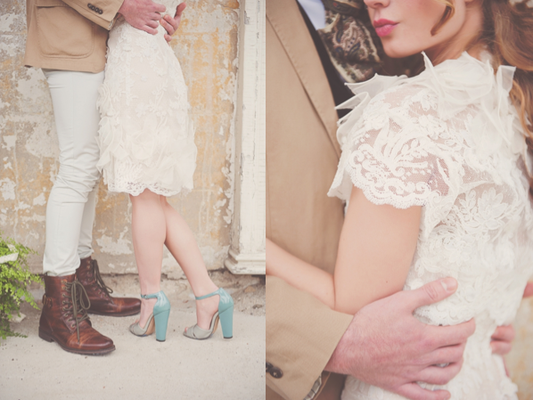 Wedding Dress With Turquoise Shoes
