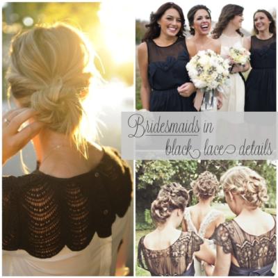 Black Lace Bridesmaids' Dresses