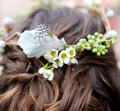 Floral + Feather Crown