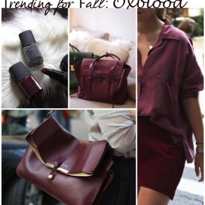 Fall Fashion: Oxblood