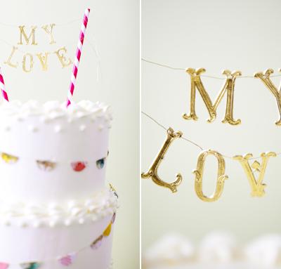 DIY Banner Wedding Cake
