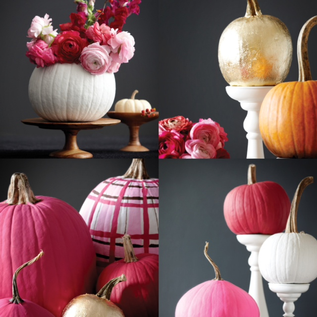 Simple pumpkin decorations glitter inc glitter inc for Simple pumpkin centerpieces