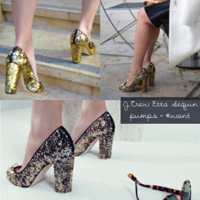 J.Crew Etta Sequin Pumps #Love