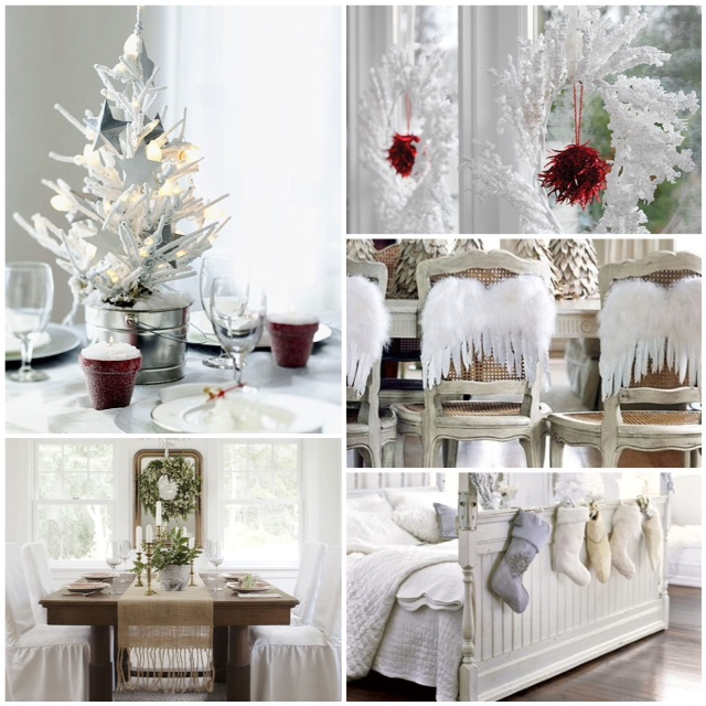 Winter white holiday decor glitter inc glitter inc for White xmas decorations