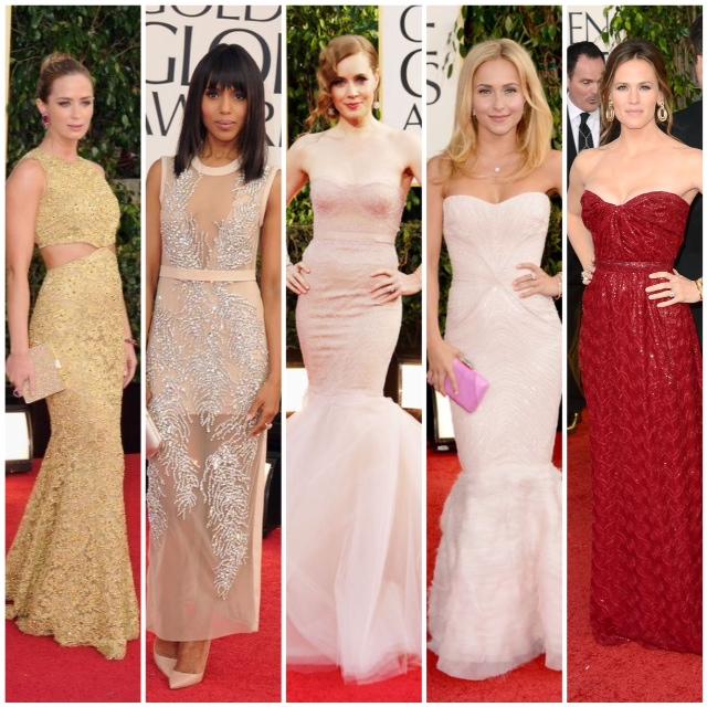 2013 Golden Globes favorite fashion dresses