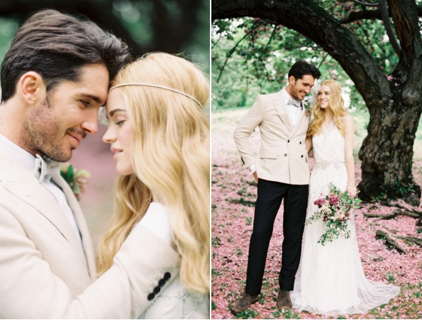 Jenny Packham wedding dress + Preston and Olivia headpiece 2