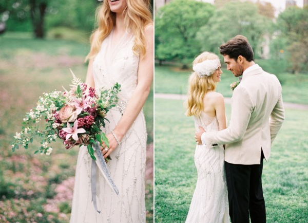 Jenny Packham wedding dress + Preston and Olivia headpiece 3