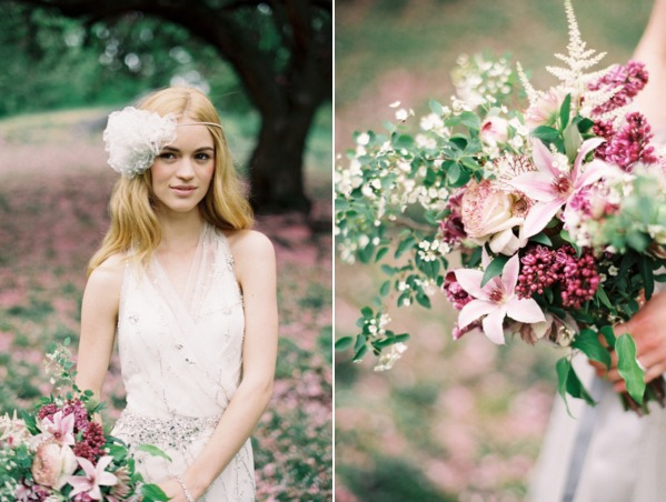Jenny Packham wedding dress + Preston and Olivia headpiece