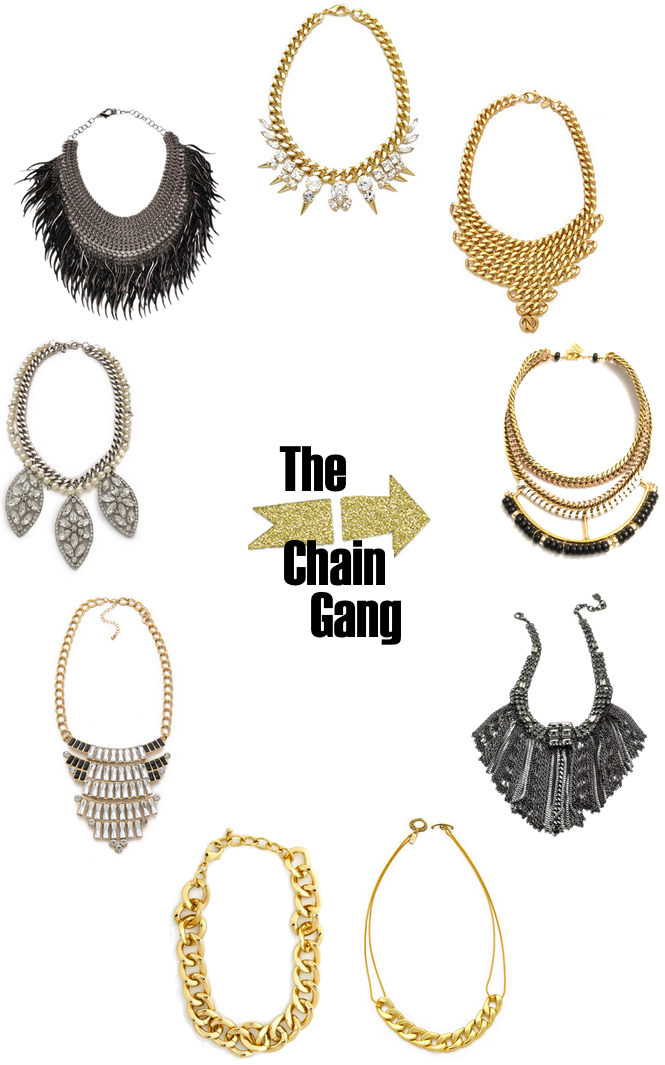 Chain Link Statement Necklaces Glitter Inc