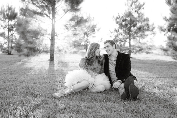 engagement chambray tulle tutu field black + white