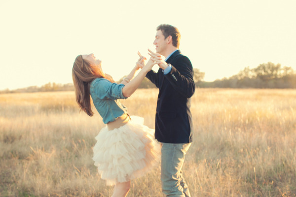 engagement chambray tulle tutu field