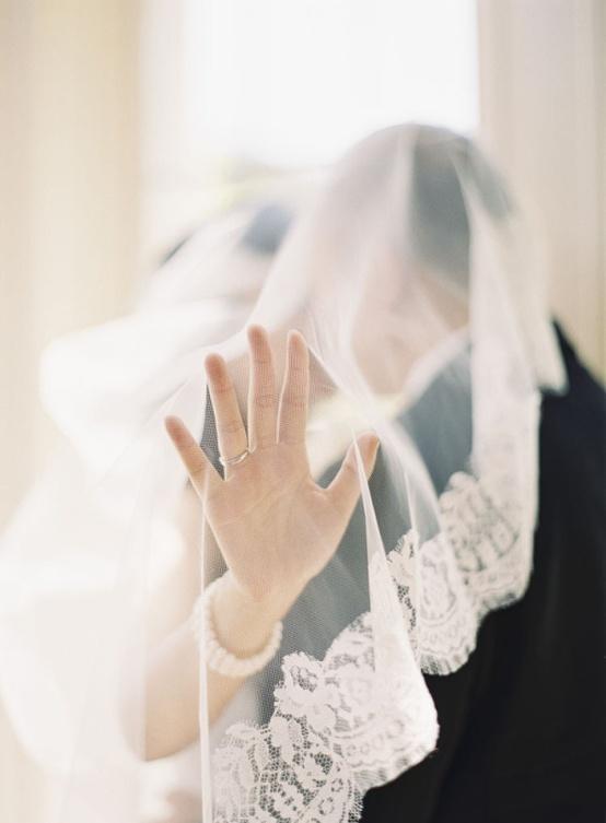 wedding photography veil