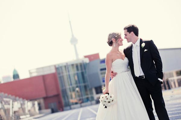 Mori Lee wedding dress pockets couple steps