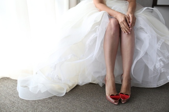 Vivienne Westwood red heart wedding shoes