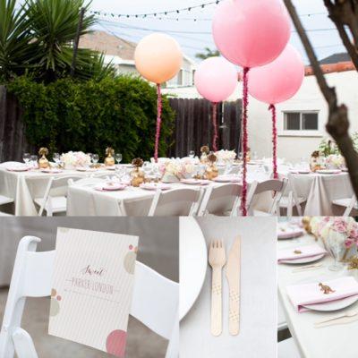 Pink + Glitter Backyard Baby Shower