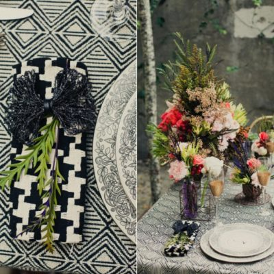 Black + Blush Urban Wedding Shoot
