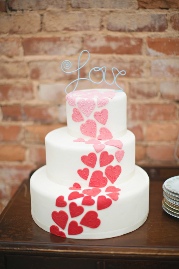 Love Cake Valentines Day Wedding 041