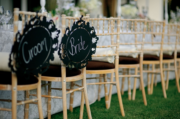 rustic wedding bride groom chairs