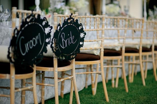 rustic wedding bride groom chairs