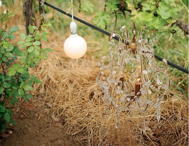 rustic wedding chandelier hay lighting