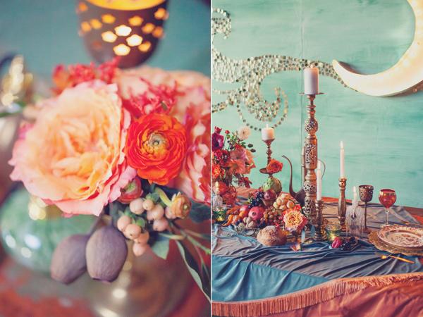 art-nouveau-engagement-candles flowers